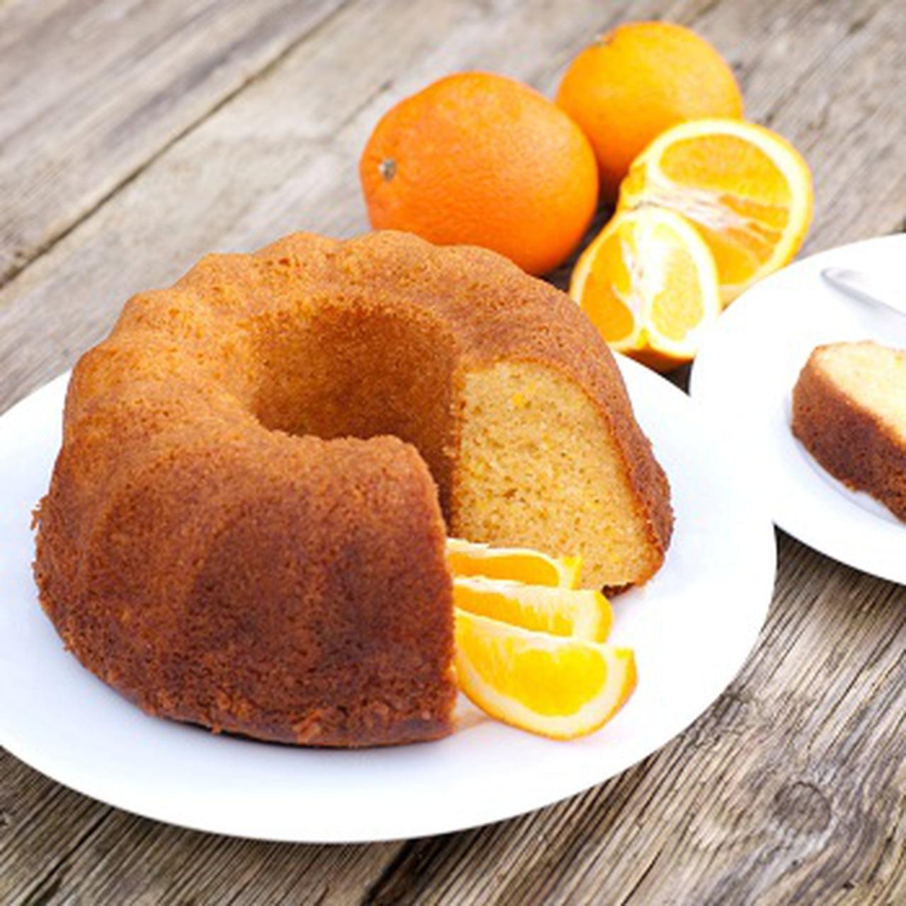طريقة عمل الكيكة بالبرتقال