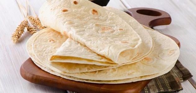 طريقة عمل خبز التورتيلا الطري